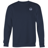Monero Crewneck Navy Blue-T-shirt-CryptoBird