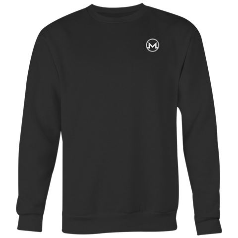 Monero Crewneck Onyx Black-T-shirt-CryptoBird