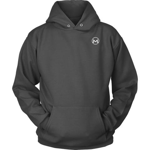 Monero Hoodie Marengo Grey-T-shirt-CryptoBird