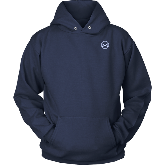 Monero Hoodie Navy Blue-T-shirt-Navy Blue-S-CryptoBird