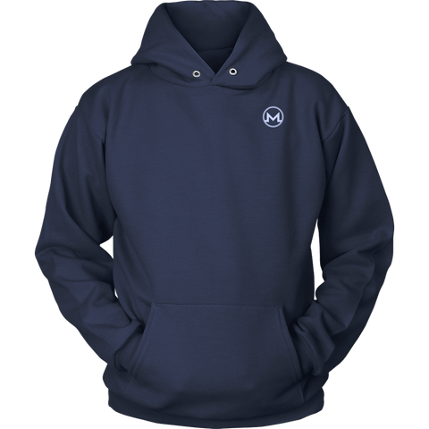 Monero Hoodie Navy Blue-T-shirt-CryptoBird