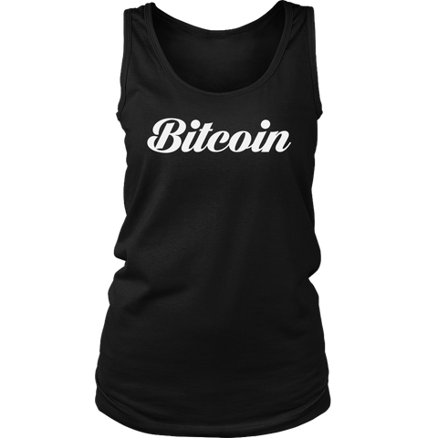 Bitcoin Caligraphy Tank-T-shirt-CryptoBird