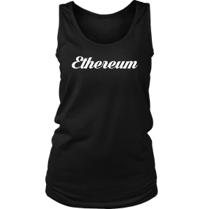 Ethereum Caligraphy Tank