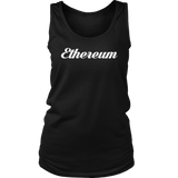 Ethereum Caligraphy Tank-T-shirt-CryptoBird