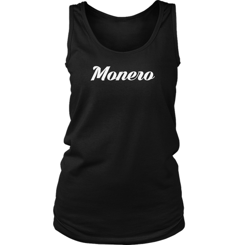 Monero Caligraphy Tank-T-shirt-CryptoBird