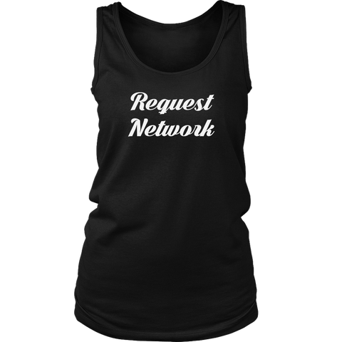Request Network Caligraphy Tank-T-shirt-CryptoBird