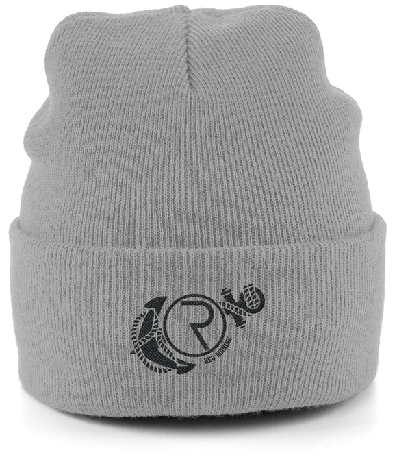 REQ Marine Beanie-Embroidered Hats-Light Grey-CryptoBird
