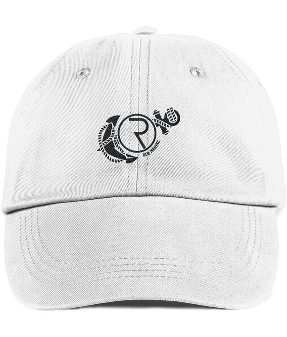 REQ Marine Twill Cap White-Embroidered Hats-White-CryptoBird