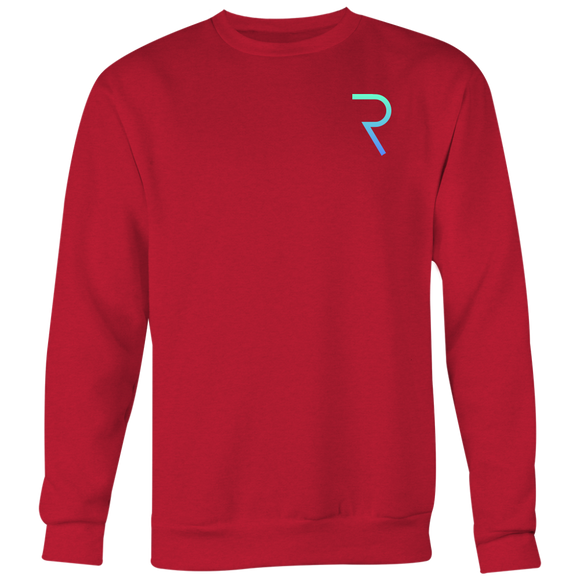 REQ Original Crewneck (Multi-Color)-T-shirt-Ruby Red-S-CryptoBird