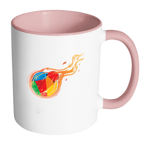 Reddcoin Fire Mug (Multi-Color)-Drinkware-Pink-CryptoBird
