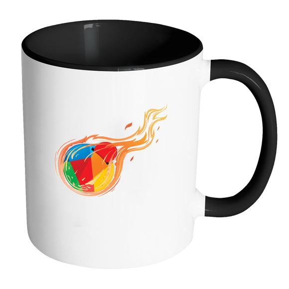 Reddcoin Fire Mug (Multi-Color)-Drinkware-Black-CryptoBird