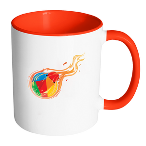 Reddcoin Fire Mug (Multi-Color)-Drinkware-Red-CryptoBird