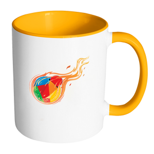 Reddcoin Fire Mug (Multi-Color)-Drinkware-Yellow-CryptoBird