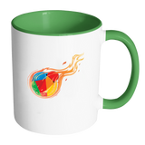 Reddcoin Fire Mug (Multi-Color)-Drinkware-Green-CryptoBird