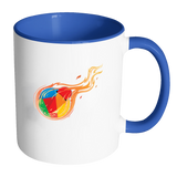 Reddcoin Fire Mug (Multi-Color)-Drinkware-Blue-CryptoBird