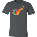 Reddcoin Fire Shirt (Multi-Color)-T-shirt-Asphalt-S-CryptoBird