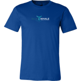 Blue Whale Splash Shirt-T-shirt-Canvas Mens Shirt-True Royal-S-CryptoBird