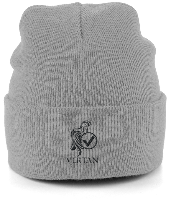 Vertan Beanie-Embroidered Hats-Light Grey-CryptoBird