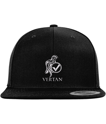 Vertan Snapback Black-Embroidered Hats-CryptoBird