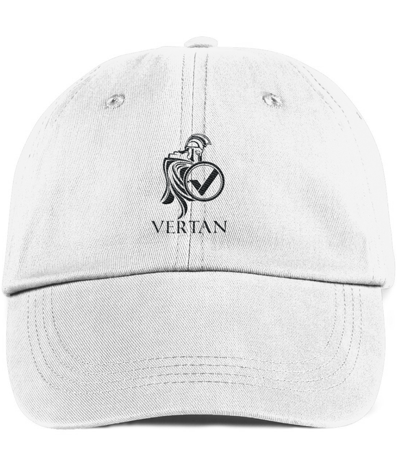 Vertan Twill Cap White-Embroidered Hats-White-CryptoBird