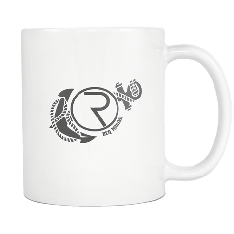 White REQ Mug-Drinkware-CryptoBird