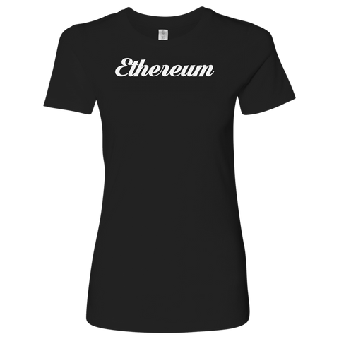 Ethereum Caligraphy Level Shirt-T-shirt-CryptoBird