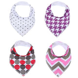 4 Pc Unisex Bandana Baby Bibs, Love, WantYouNeed, WantYouNeed