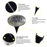 8 LED Solar Powered In-Ground Waterproof Path Lights, Garden Light, WantYouNeed, WantYouNeed