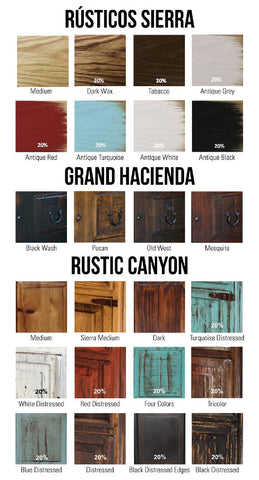 Stains And Color Choices Rustic Furniture Depot
