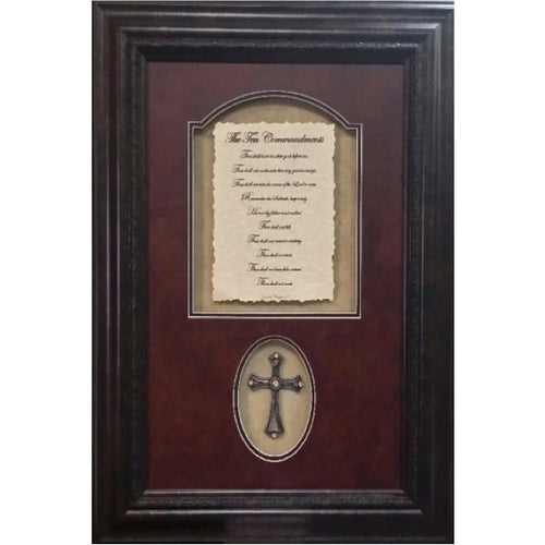 10 Commandments with Cross