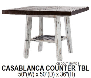 Casaablanca Counter Height Table