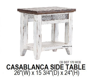 Casablanca Chair Side Table