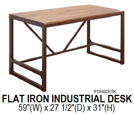 Flat Iron Industrial Desk