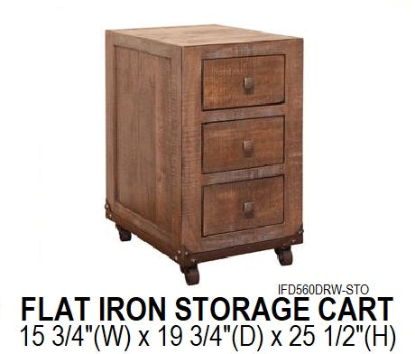 Flat Iron Storage Cart