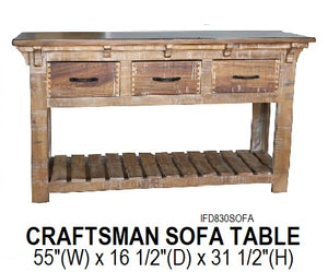 Craftsman Sofa Table