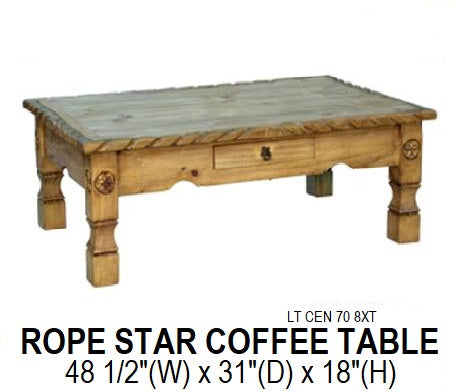 Rope Star Coffee Table