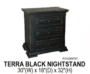 Terra Black Nightstand