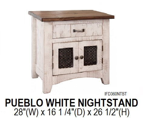 Pueblo White Nightstand