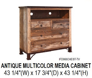 Ant. Multicolor Media Chest