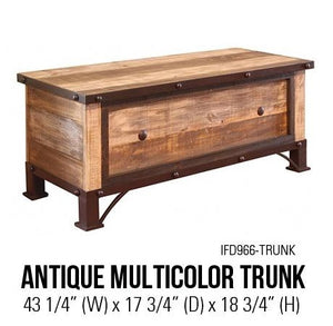 Antique Multicolor Trunk