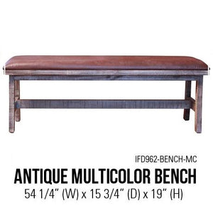 Antique Multicolor Bench
