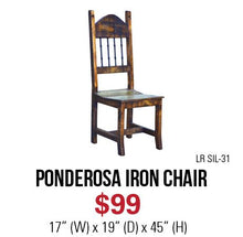 Ponderosa Iron Chair
