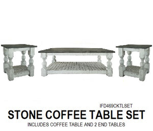 Coffee Table Sets Rustic Furniture Depot - Stone picnic table set