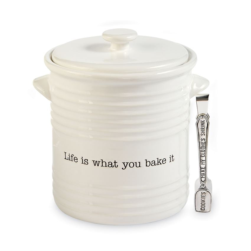 Life is What You Bake It Cookie Jar