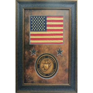 American Flag with Marine Seal