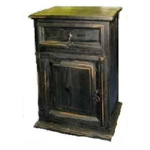 Antique Black Nightstand