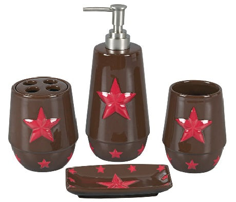 Red Star Bath Set