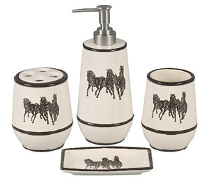 Running Horse Bath Set