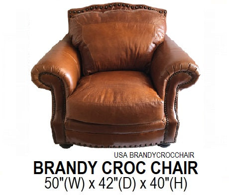 Brandy Croc Chair