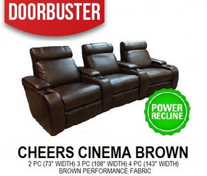 Cheers Cinema Brown Theater Seating